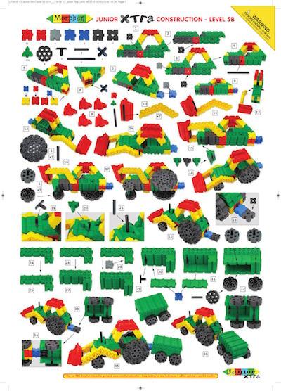 traktor z naczepą krok po kroku budowanie z klocków konstrukcyjnych