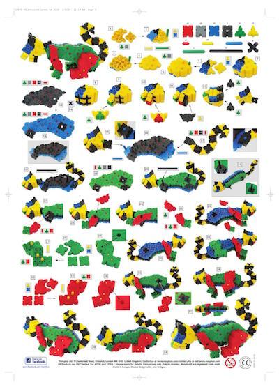 Wielki kolorowy kot z klocków konstrukcujnych Morphun