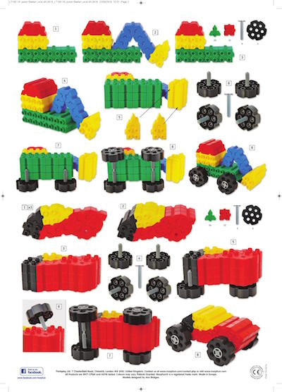 instrukcja składania koparki z klocków konstrukcyjnych