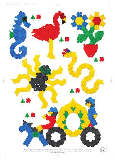 klocki konstrukcyjne, morphun, kwiatki, budowanie żurawia, składanie pająka z klocków