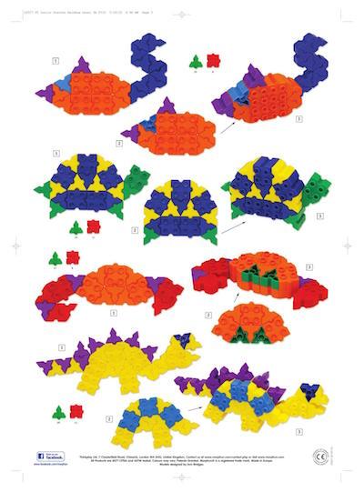 konstrukcje prostych modeli Łabądź, żółw, krab