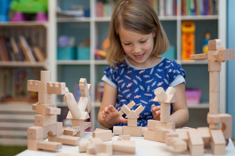 Klocki edukacyjne drewniane Kooglo