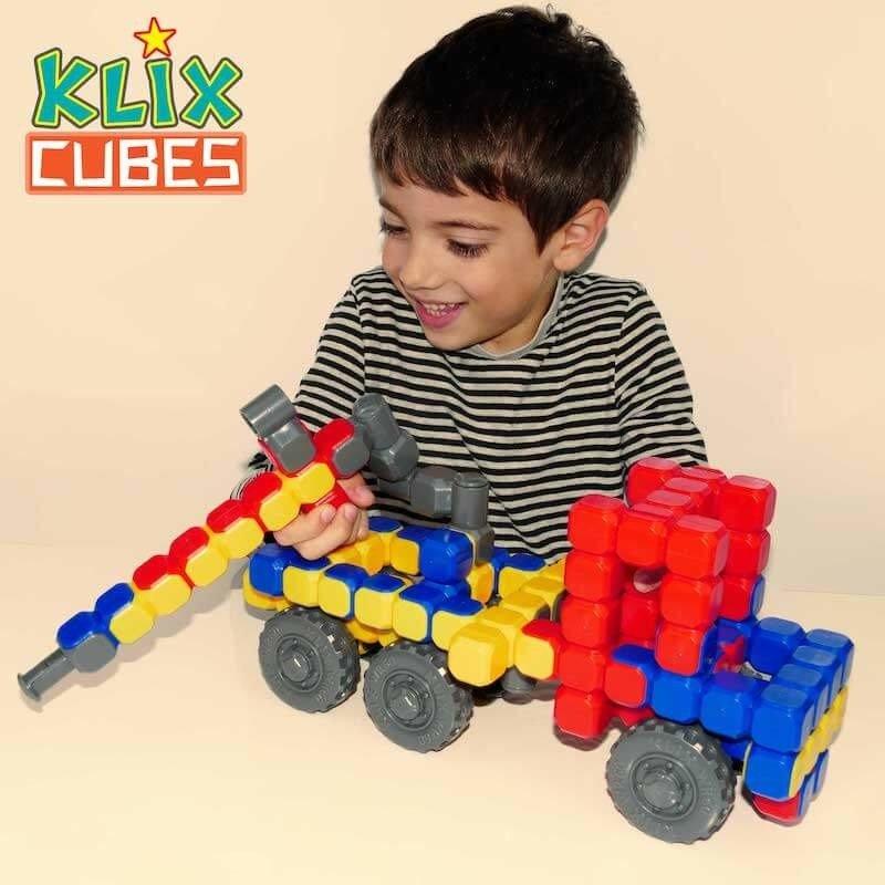 Kolorowe klocki konstrukcyjne Klix Cubes