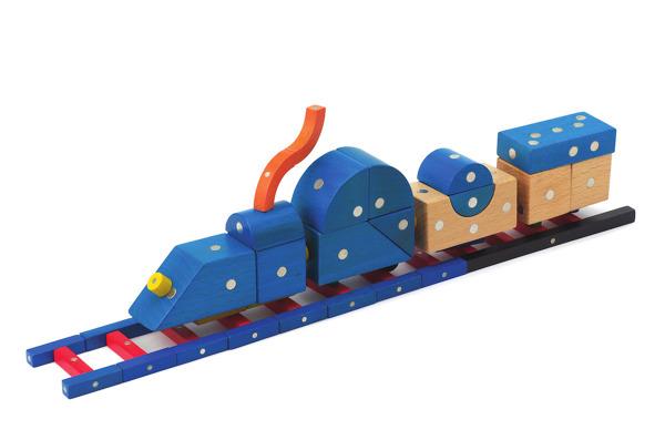 Drewniane magnetyczne klocki Transportation 110el.