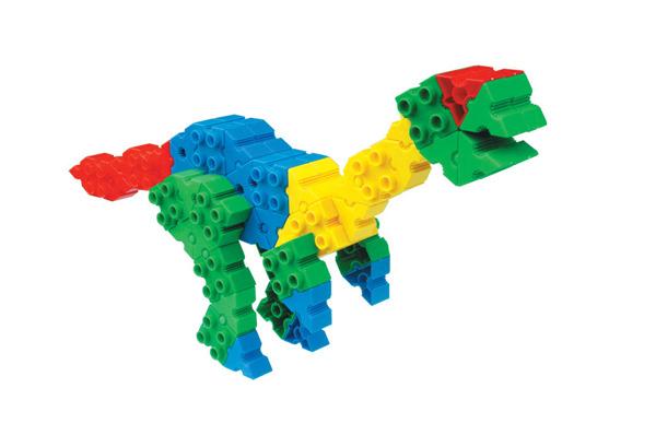 Klocki konstrukcyjne Morphun Dinozaury 110 el.